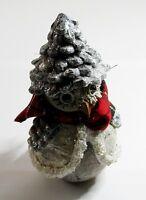 Deko-Figur Eule mit Zapfenhut ca 15 cm groß - SEYKO - Winter/Weihnachten