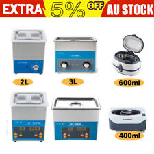400ml/600ml/2L/3L Ultrasonic Cleaner Ultra Sonic Timer Cleaning Machine Tank AU