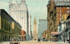 Philadelphia Pennsylvania~South Broad Street~Coachman Drives Carriage~1910