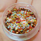 Gold Mixed Holographic Sparkle Glitter Nail Art DIY Decoration Accessory