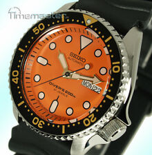 New SEIKO PRO DIVERS 200m AUTOMATIC ORANGE FACE RUBBER STRAP SKX011J1