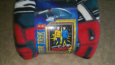 "Star Trek No Sew Throw Fleece Kit - Kirk & Spock  43"" x 55"" Brand NEW"