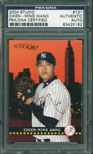 Yankees Chien-Ming Wang Authentic Signed Card 2004 Studio #131 PSA/DNA Slabbed