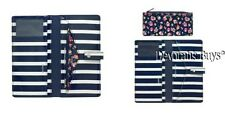 CATH KIDSTON NAVY BRETON STRIPE TRAVEL WALLET WITH DETACHABLE PURSE - PERFECT