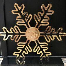 Chanel Snowflake CC Logo Vintage Perfume Store Display Gold Metal VERY RARE