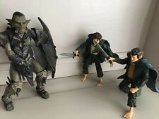 """LORD OF THE RINGS - 7"""" MORIA ORC, MERRY & PIPPIN ACTION FIGURES BY TOYBIZ GREAT"""