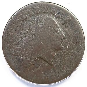 1793 S-3 R-3 ANACS G 4 Details Chain Large Cent Coin 1c