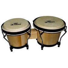"Bongo Drums 6.5"" 7.5"" Bongos Professional Tuning System Buffalo Hide Heads Nat"