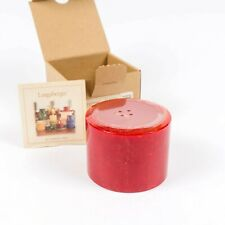Nib Longaberger Cinnamon Clove Red Pint Size Pillar Candle Sealed New in Box