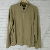 Tommy Bahama Large Sweatshirt Mens Brown Half Zip Pima Cotton