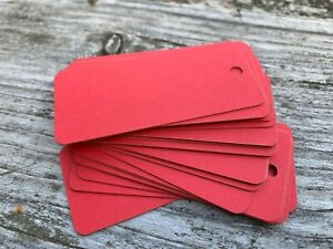 10/25/50/100 Paper tags red cardboard tag, 350gsm cardboard gift tag red  paper