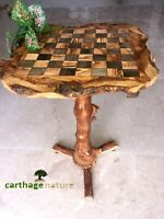 """Christmas gift, Olive wood chess set board with stand 23"""", boyfriend gift, US"""