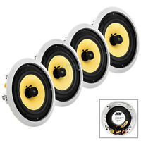 "8"" In Ceiling Speaker Home Theater 75W RMS 8 Ohm 2-Way Audio DCM TD820C 4 Pack"