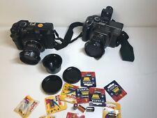 Mamiya 7/II kit 2 cameras lenses 80mm 50mm w/viewfinder batteries caps