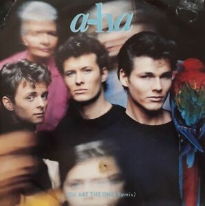 """Aha-You Are The One/Out Of Blue Comes Green 7"""" Single.1988 WEA W7636.1980s Pop."""