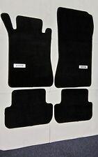 For 03-09 Mercedes Benz W209 CLK Black Nylon Floor Mats Carpet 4PC W/ Emblem 2