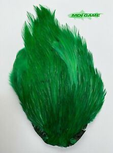 MDI Game Fishing Quality Grade A Dyed B-Green Indian Cock Cape For Fly Tying K1