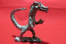 Pewter Dragon With Austrian Crystals Figurine