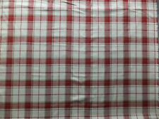 LAURA ASHLEY Highland Check Cranberry Fabric 2.2 Meters