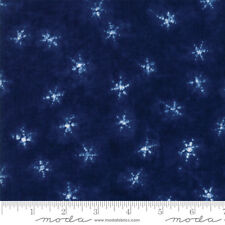 Yuki Raito Neibi By The yard Dark Blue Fabric Debbie Maddy Of Tiori Designs