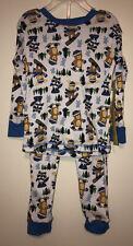 Swiggles Infant Boy's Top & Pants Pajama Set - Winter Sports Critters - Size 18M