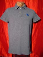 Authentic Abercrombie and Fitch Mens Polo Shirt  Gray Size:  S Small
