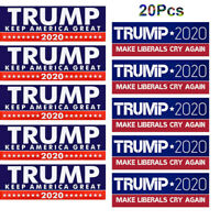 10x Trump Bumper Stickers 2020 Keep America Great + 10x Make Liberals Cry Again