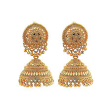 Bollywood Indian Traditional Ethnic Jhumka  Jumki  Gold Plt Earring