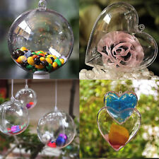 Large Plastic Clear Balls Baubles Fillable Christmas Wedding Tree Ornament Decor