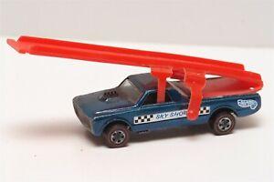 H33 Vintage Mattel Hot Wheels Redline 1969 Blue Fleetside SkyShow