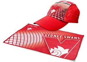 Sydney Swans Sports Pack | Gym Towel & Cap | AFL Aussie Rules