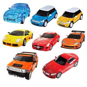 3D Jigsaw Puzzle Cars Play Mercedes Lamborghini Mini Cooper Corvette Toy Model