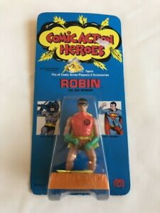 """MOC Mego 1975 Comic Action Heroes 3 3/4"""" Robin Action Figure NOS Unpunched"""