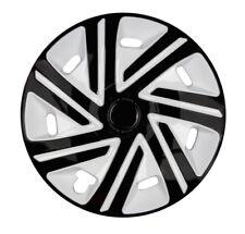 4x Premium Diseño Tapacubos pintado 15 pulgadas #49 Negro Blanco