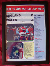 England 25 Wales 28 - 2015 World Cup - framed print