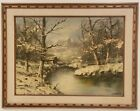 """Oil Painting on Canvas Winter Forest Framed Art (26"""" x 34"""")"""