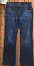 7 For All Mankind High Waisted Bootcut Jeans Dark Wash Women's 32.