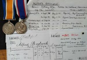 WW1 MEDAL AND RFR LONG SERVICE MEDAL TO CHIEF PETTY OFFICER, BADCOCK, BORN 1872