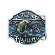 I'D Rather Be Fishing Belt Buckle Bass Deep Sea Fly  FAST USA SHIPPING