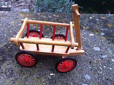 Leiterwagen Wagen Puppenhaus 1:12  Caco 70er Puppenhauszubehör