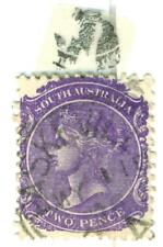Rare 1868 South Australia TWO PENCE STAMP Queen Victoria Purple Variant