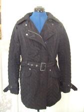 Next petite size 14 lightly quilted black ladies coat biker style zip & collar