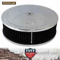 """Aeroflow Chrome Air Cleaner Assembly 9"""" x 2-3/4"""" with Washable Filter Element"""
