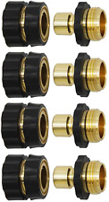 Twinkle Star 3/4 Inch Garden Hose Fitting Quick Connector Male and Female Set, 4