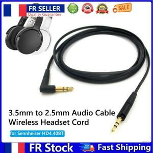 3.5mm to 2.5mm Audio Cable Wireless Headset Cord for Sennheiser HD4.40BT