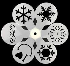 6 pieces Winter snowflake Xmas Stencil Reusable DIY Craft Stencils Template