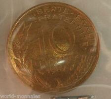 10 centimes marianne 1987 : TTB : pièce de monnaie française