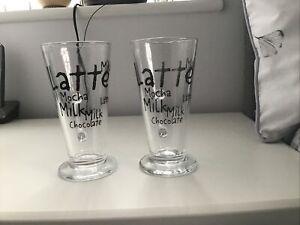 Two Latte Glasses