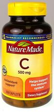Nature Made Vitamin C 500mg Immune Support Supplement 250 Caplets Exp 04/2024