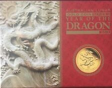 2012 AUSTRALIA LUNAR DRAGON P SERIES II 1/10oz GOLD PROOF $15 DOLLAR COIN BOXED